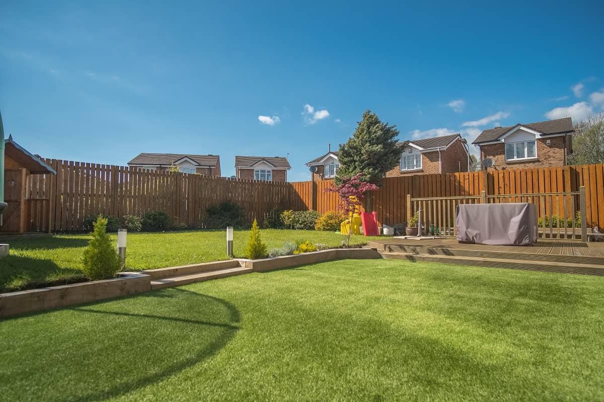 artificial grass backyard