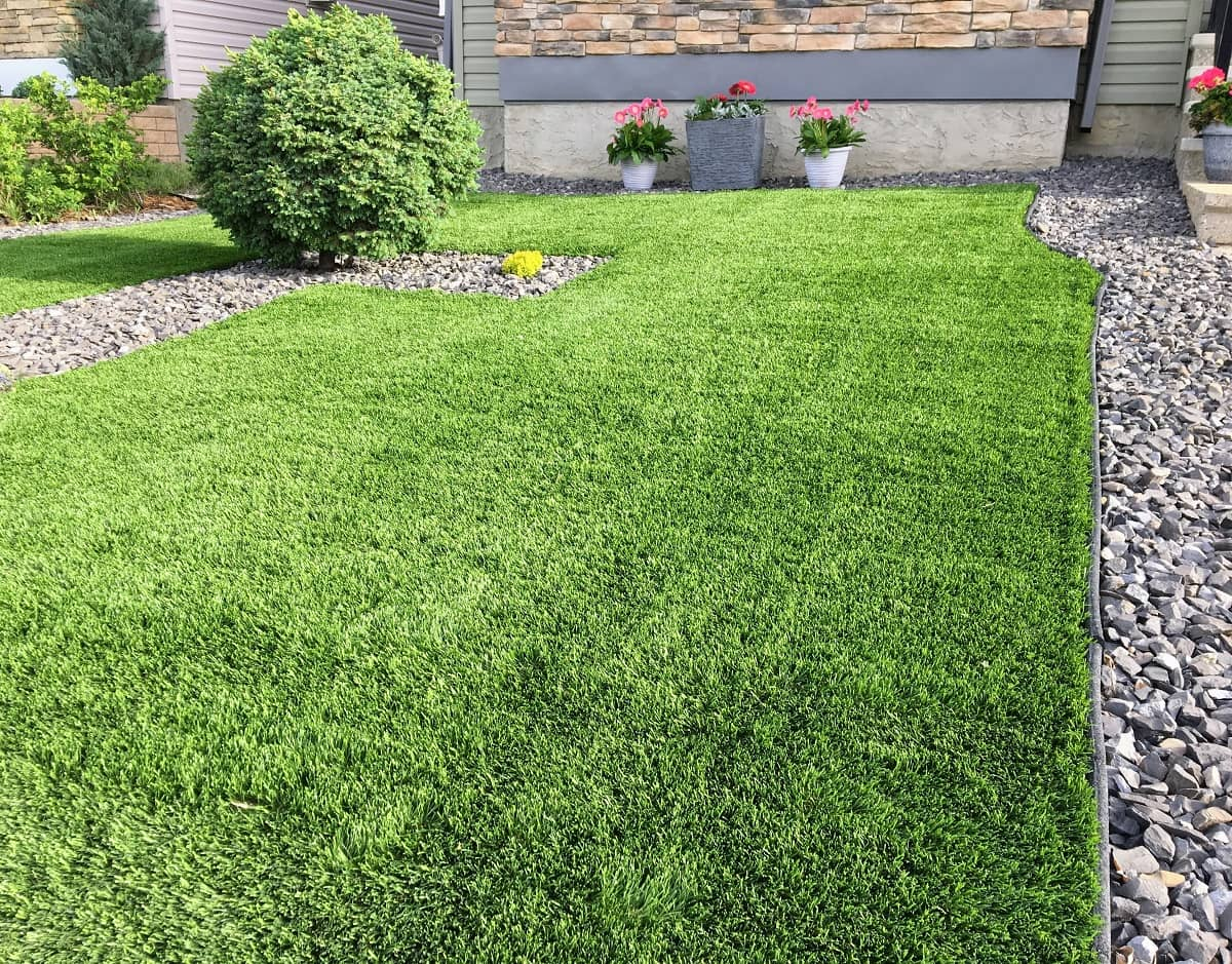 synthetic turf garden