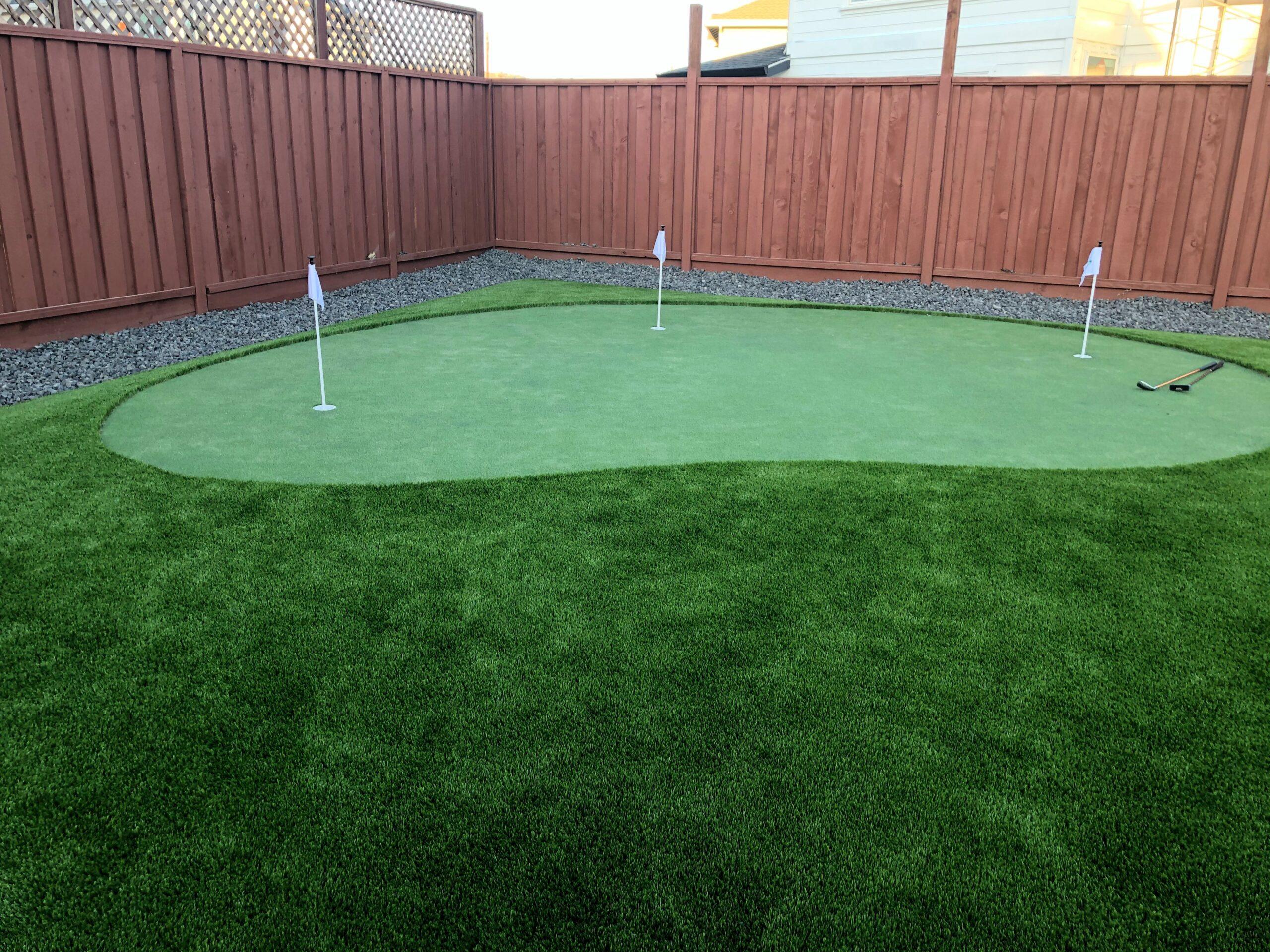 backyard artificial grass putting green