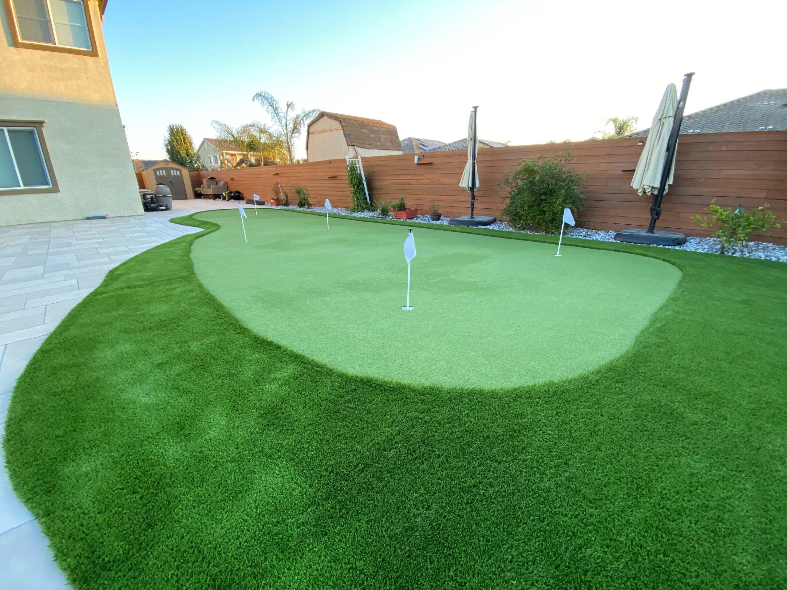 backyard putting green turf golf