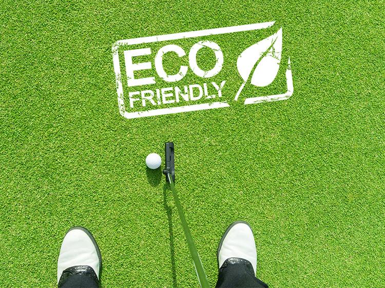 Eco friendly artificial grass putting greens