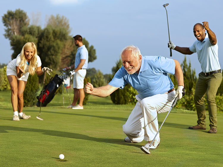 Golfing on Synthetic Turf in Denver is Great for Elder Adults